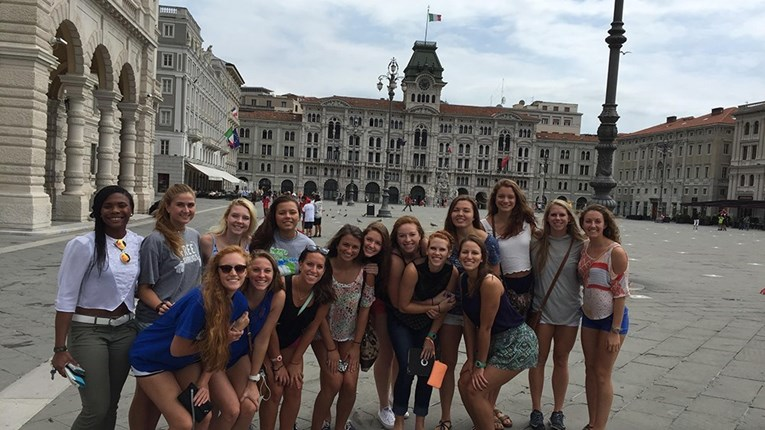UWF Volleyball in Trieste, Italy