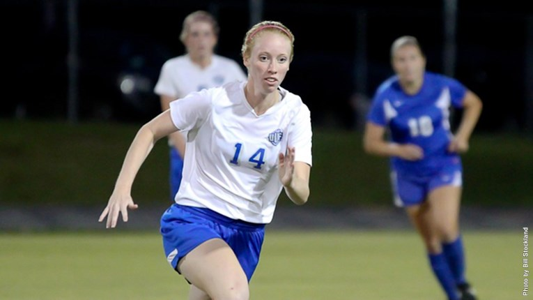 Taylor Burkhart gave UWF the game-winning goal in the season-opener against Tusculum