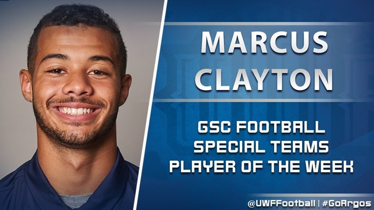 Marcus Clayton GSC Player of the Week graphic