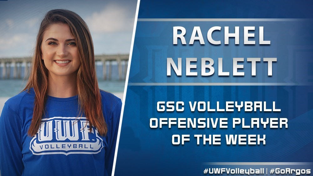 Rachel Neblett was named the GSC volleyball offensive player of the week on Tuesday